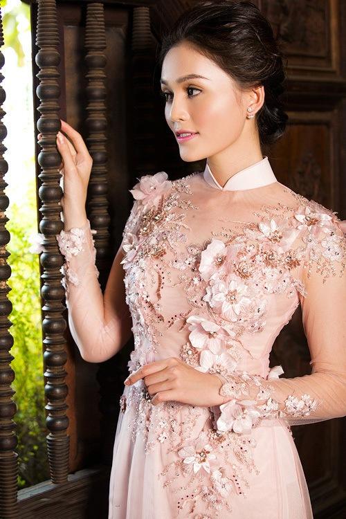 các mẫu áo dài cưới đẹp 2017 cho cô dâu