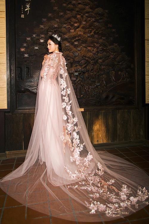 các mẫu áo dài cưới đẹp 2017