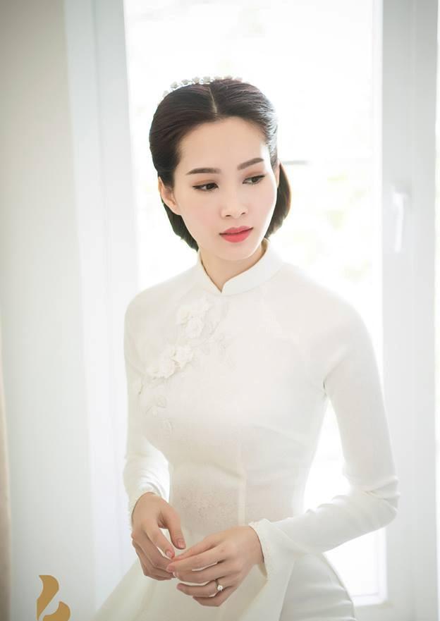 áo dài cưới cho hoa hậu thu thảo