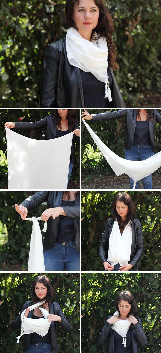 cách quàng khăn đẹp