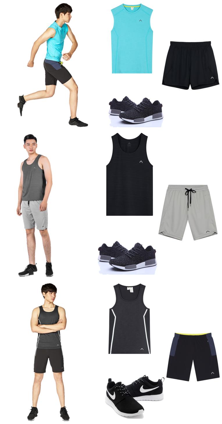 Set đồ ngày hè với áo thun ba lỗ tập gym