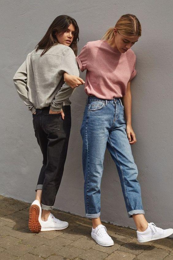 cách phối/mix đồ với quần jean nữ cạp cao