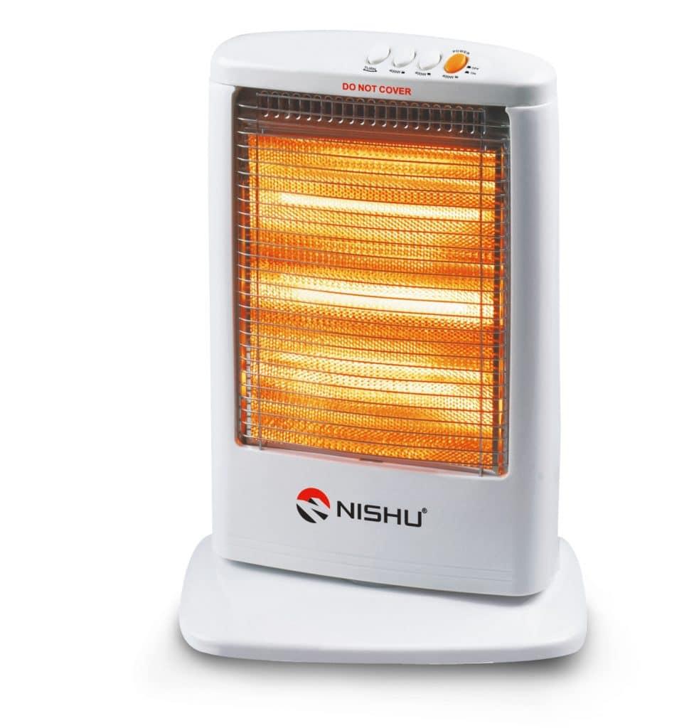 dùng đèn sưởi tăng nhiệt độ phòng